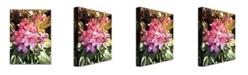 "Trademark Global David Lloyd Glover 'Royal Rhododendrons' Canvas Art - 32"" x 26"""