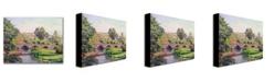 "Trademark Global Jean Baptiste Guillaumin 'The Bridge at Boigneville' Canvas Art - 47"" x 30"""