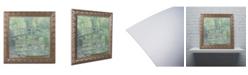 "Trademark Global Claude Monet 'The Waterlily Pond 1899' Ornate Framed Art - 11"" x 11"""