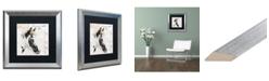 "Trademark Global Jennifer Redstreake 'Dans la Ferme Horse' Matted Framed Art - 16"" x 16"""