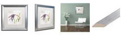 "Trademark Global Jennifer Redstreake 'Paris Botanique Lily Purple' Matted Framed Art - 16"" x 16"""