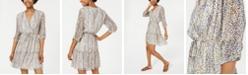 City Studios Juniors' Printed Surplice Dress