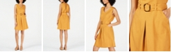 Monteau Petite Belted Fit & Flare Dress