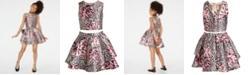 Sequin Hearts Big Girls 2-Pc. Mixed-Print Dress