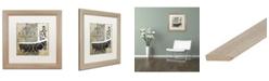 "Trademark Global Color Bakery 'Paris Bath II' Matted Framed Art - 16"" x 16"""