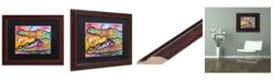 """Trademark Global Dean Russo 'Croc' Matted Framed Art - 11"""" x 14"""""""