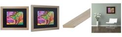 "Trademark Global Dean Russo 'Stegosaurus' Matted Framed Art - 16"" x 20"""