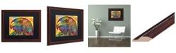 """Trademark Global Dean Russo 'Hawk' Matted Framed Art - 16"""" x 20"""""""