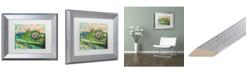 """Trademark Global Dean Russo 'Gecko' Matted Framed Art - 11"""" x 14"""""""