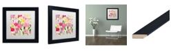 "Trademark Global Carrie Schmitt 'Margaret's Flowers' Matted Framed Art - 11"" x 11"""