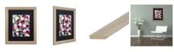 """Trademark Global Carrie Schmitt 'Night Garden' Matted Framed Art - 16"""" x 20"""""""
