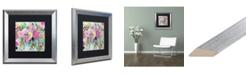 """Trademark Global Carrie Schmitt 'Rose Burst' Matted Framed Art - 16"""" x 16"""""""
