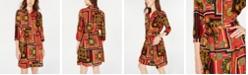 Be Bop Juniors' Printed Shirtdress