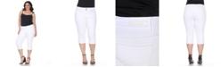 White Mark Plus Size Super Stretch Capri Denim