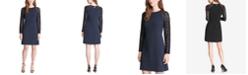 Tommy Hilfiger Lace-Sleeve A-Line Dress
