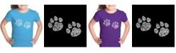 LA Pop Art Girl's Word Art T-Shirt - Meow Cat Prints