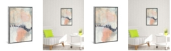 """iCanvas Blush and Navy Ii by Jennifer Goldberger Gallery-Wrapped Canvas Print - 26"""" x 18"""" x 0.75"""""""