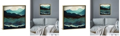 """iCanvas Indigo Mountains by Spacefrog Designs Gallery-Wrapped Canvas Print - 18"""" x 18"""" x 0.75"""""""