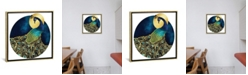 """iCanvas Golden Peacock by Spacefrog Designs Gallery-Wrapped Canvas Print - 26"""" x 26"""" x 0.75"""""""