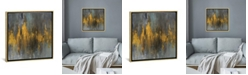 """iCanvas Black and Gold Abstract by Danhui Nai Gallery-Wrapped Canvas Print - 18"""" x 18"""" x 0.75"""""""
