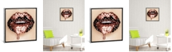 """iCanvas Rose Gold Melting Carat by Vlada Haggerty Gallery-Wrapped Canvas Print - 26"""" x 26"""" x 0.75"""""""