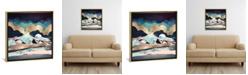 "iCanvas Indigo Spring by Spacefrog Designs Gallery-Wrapped Canvas Print - 18"" x 18"" x 0.75"""