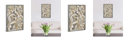 "iCanvas Painted Tropical Screen I Gray Gold by Silvia Vassileva Gallery-Wrapped Canvas Print - 40"" x 26"" x 0.75"""