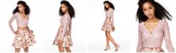 City Studios Juniors' Lace Top & Printed Skirt