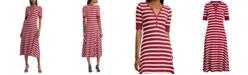Lauren Ralph Lauren Petite Stripe-Print Cotton Fit & Flare Dress