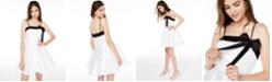 City Studios Juniors' Bow-Front Fit & Flare Dress
