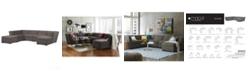 Furniture Closeout Roxanne Fabric 6 Piece Modular