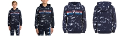 Tommy Hilfiger Big Boys Edwin Splatter-Print Full-Zip Fleece Logo Hoodie