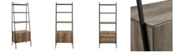 Walker Edison Industrial Modern Ladder Bookcase