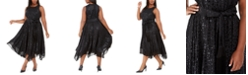 Michael Kors Plus Size Embossed Belted Dress