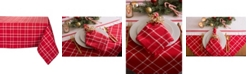 Design Import Holly Berry Plaid Tablecloth