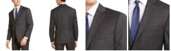 Michael Kors Men's Classic-Fit Airsoft Stretch Gray/Blue Windowpane Suit Jacket