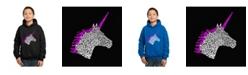 LA Pop Art Boy's Word Art Hoodies - Unicorn