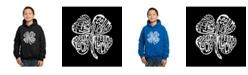 LA Pop Art Boy's Word Art Hoodies - Feeling Lucky