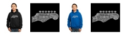 LA Pop Art Boy's Word Art Hoodies - Guitar Head