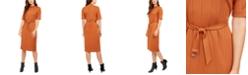 Alfani Mock-Neck Belted Dress, Created for Macy's