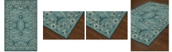 D Style CLOSEOUT! Torrey Tor6 Teal 8' X 10' Area Rugs