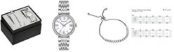 Bulova Women's Stainless Steel Bracelet Watch 33mm Gift Set
