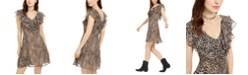 19 Cooper Animal-Print Ruffled A-Line Dress