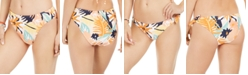 Roxy Juniors' Swim the Sea High-Leg Printed Bikini Bottoms