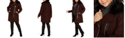 Michael Kors Plus Size Faux-Fur-Trim Asymmetrical Coat