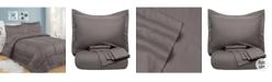 Sweet Home Collection Greek Key 8-Pc. King Comforter Set