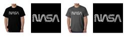 LA Pop Art Men's Word Art T-Shirt - Worm Nasa
