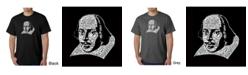 LA Pop Art Men's Word Art T-Shirt - Shakespeare