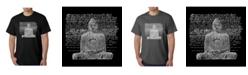 LA Pop Art Men's Word Art T-Shirt - Zen Buddha