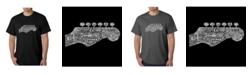 LA Pop Art Men's Word Art T-Shirt - Guitar Head